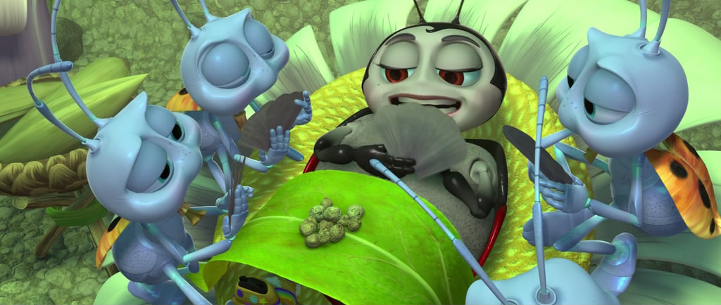 a comprehensive movie review of a bugs life The drive-in movie shows a bug's life, featuring stylized car versions of characters flik, the circus bugs and pt flea your friend, the rat pt flea appears when the rats are talking about fleas causing the black death.